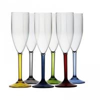 Party Champagneglazen set - Meerkleuring - Onbreekbaar