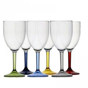 Party Wijnglazen set - Meerkleurig - Onbreekbaar