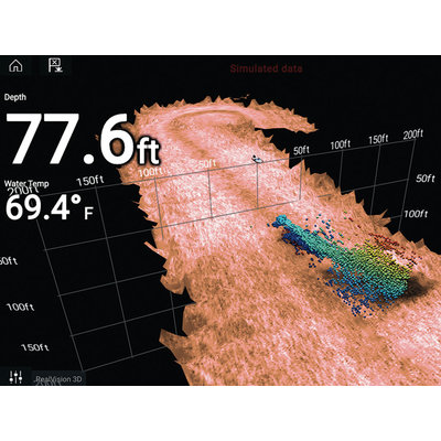 Raymarine Axiom PRO-RVX 12 '' MFD met realvision 3D en 1KW Sonar