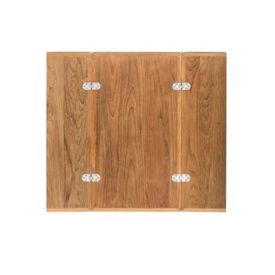 Klapbare tafelblad met RVS tafelpoot