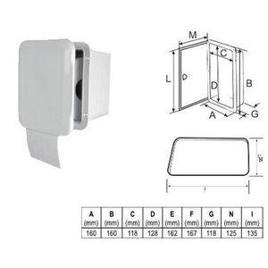 Plastimo Toilet-rol houder met deur