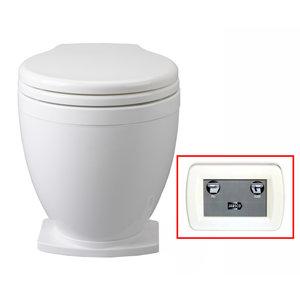 Jabsco Lite flush elektrisch toilet met 2-knops bedieningspaneel