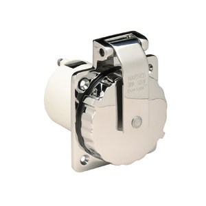 Marinco 125V Easy Lock Inlet SS with Enclosure