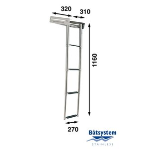 Båtsystem Telescopische ladder 4 treden 1160MM