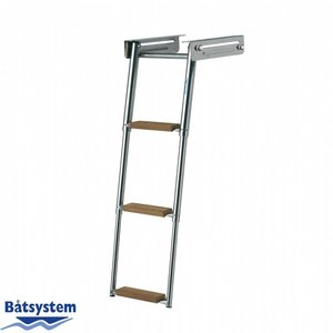 Båtsystem ladder rvs 3 treden teak