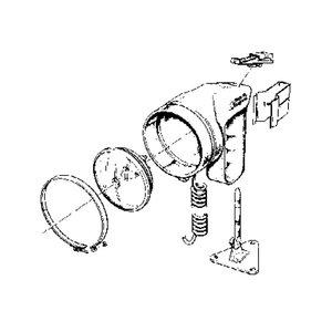Aqua Signal Montage beugels handschijnwerper