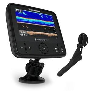 """Raymarine Dragonfly-7 Pro 7"""" Sonar GPS met ingebouwde Down Vision & CPT-DVS spiegelmontage transducer, Austalië Navionics Gold kaart"""