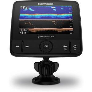 """Raymarine Dragonfly-7 Pro 7"""" Sonar GPS met ingebouwde Down Vision & CPT-DVS spiegelmontage transducer, USA Navionics Gold kaart"""