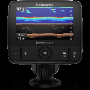 """Raymarine Dragonfly-7 Pro 7"""" Sonar GPS met ingebouwde Down Vision & CPT-DVS spiegelmontage transducer, USA CMAP Essentials kaart"""