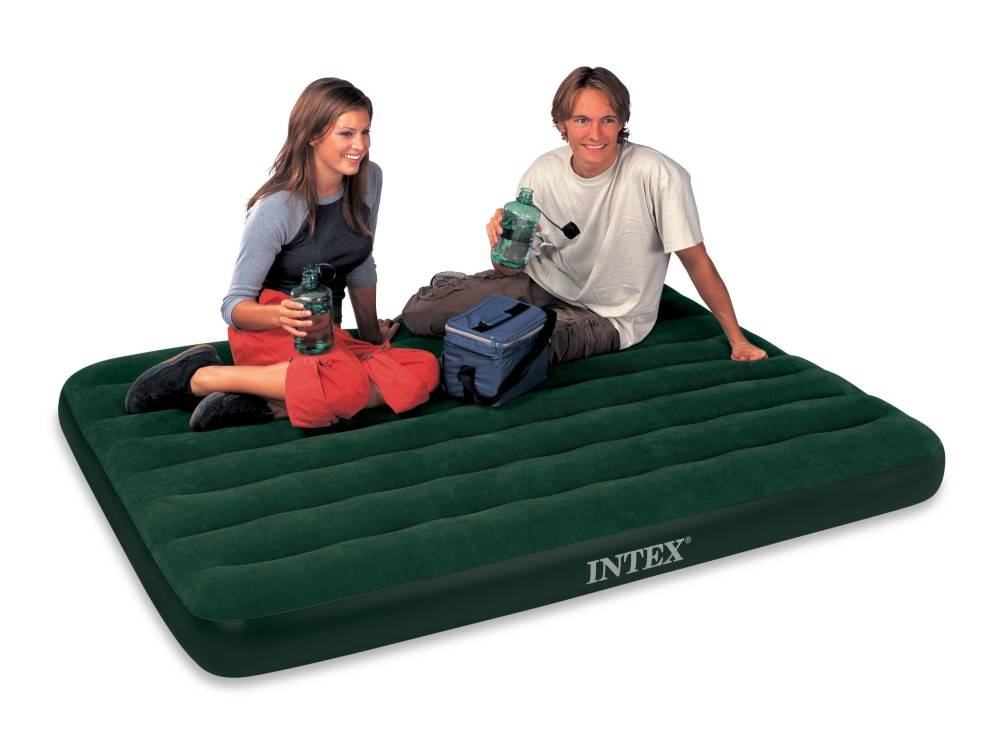 Intex Luchtbed Full Prestige Downy Tweepersoons (Incl. Batterijpomp)