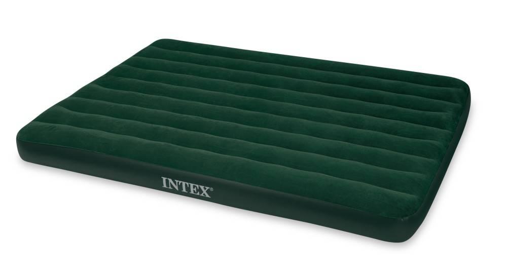 Intex Luchtbed Queen Prestige Downy Tweepersoons (Incl. Batterijpomp)