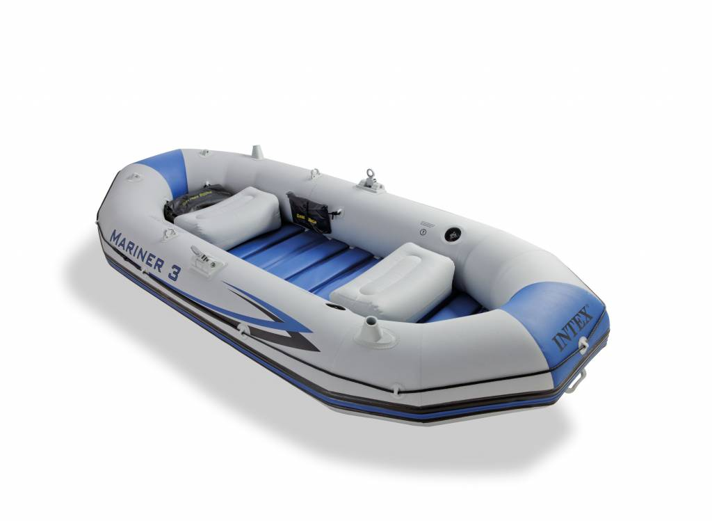 Intex Opblaasboot Marinier 3 Set Driepersoons