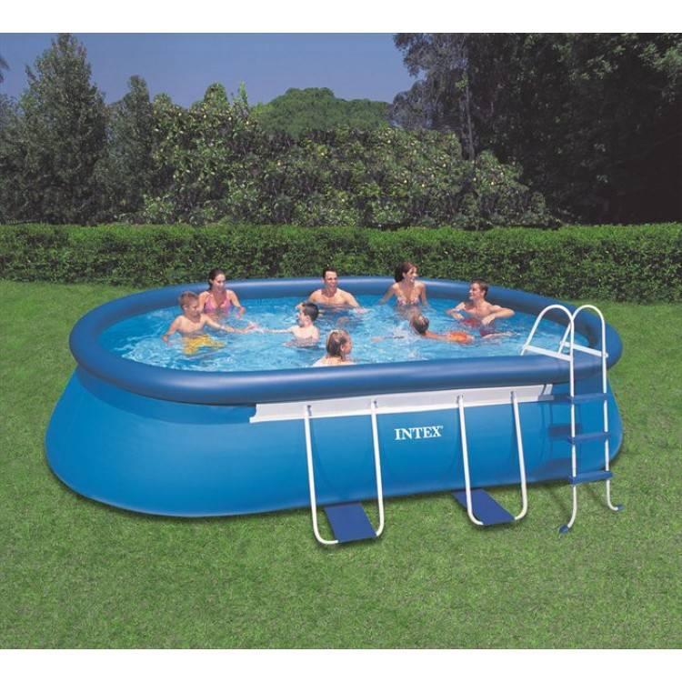 Intex Zwembad Oval Frame 610 x 366 x 122 cm