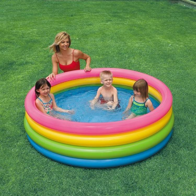 Intex Opblaasbaar Zwembad Regenboog (3+ jaar)