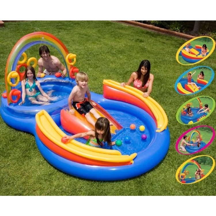 Intex Opblaasbaar Speelzwembad Regenboog (3+ Jaar)