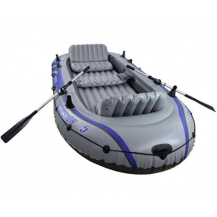 Intex Opblaasboot Excursion 5 Set Vijfpersoons (Incl. Peddels en Pomp)