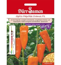 Dürr Samen Spitz-Paprika  Oranos F1
