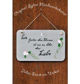 Saat & Gut Handbemaltes Gartenschild 'Liebe'