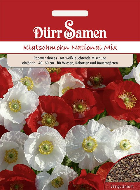 Dürr Samen Klatschmohn 'National Mix', einjährig, 40-60cm