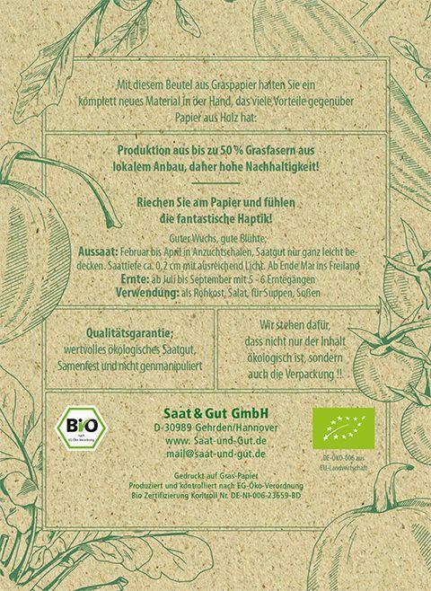 Saat & Gut BIO-Grünkohl Niedriger Grüner Krauser