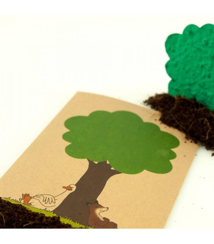 Stadtgärtner Saat-Grußkarte Entspannte Tiere