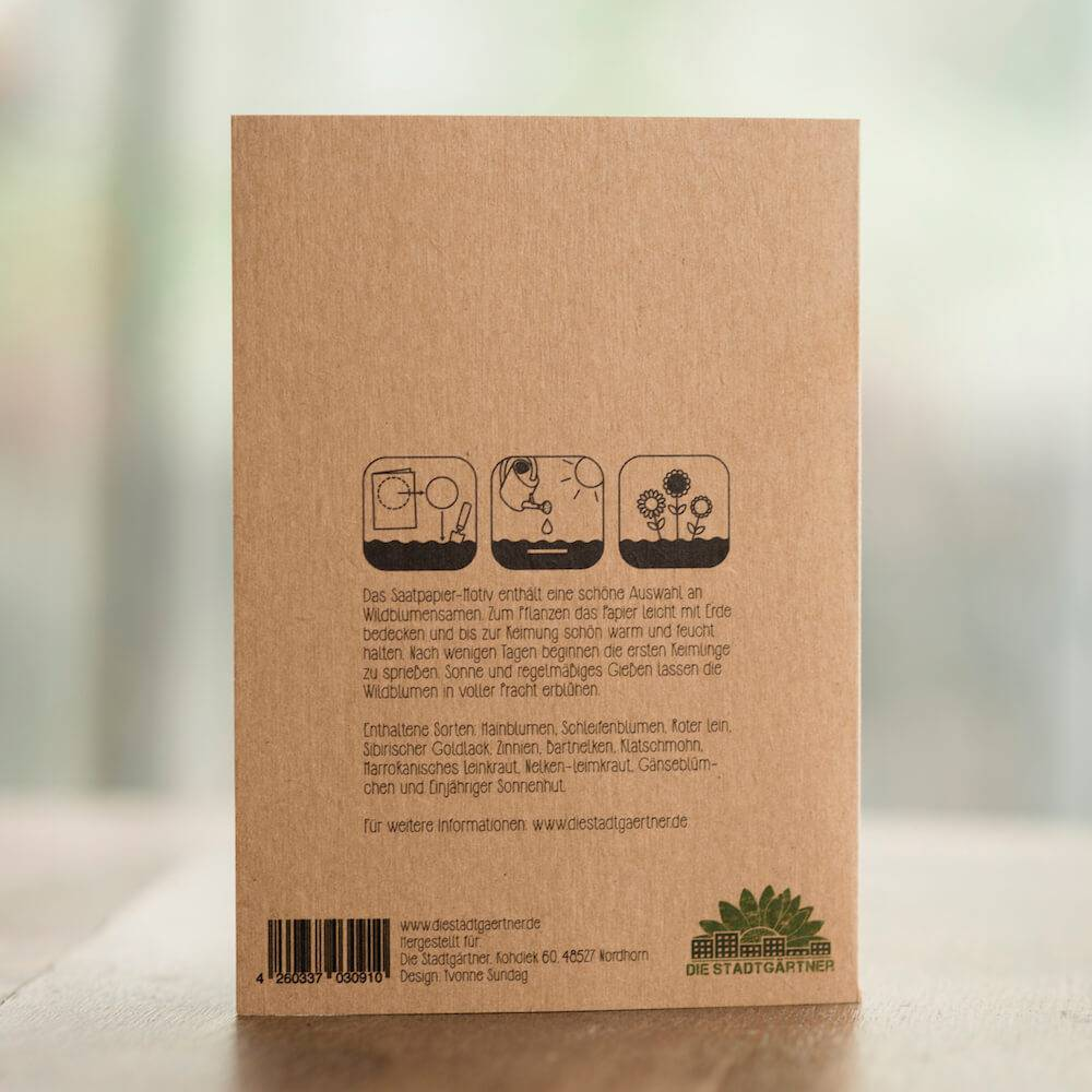 Stadtgärtner Saat-Grußkarte Wünsch Dir was