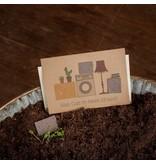 Stadtgärtner Saat-Grußkarte Alles Gute im neuen Zuhause