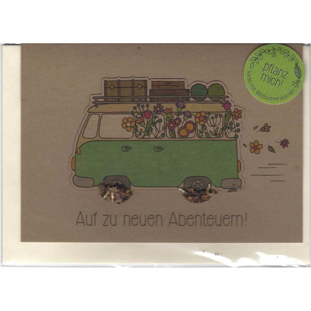 Stadtgärtner Saat-Grußkarte Auf zu neuen Abenteuern
