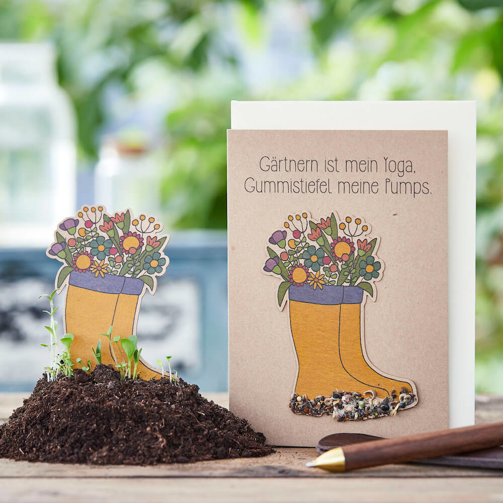 Stadtgärtner Saat-Grußkarte Gärtnern ist mein Yoga