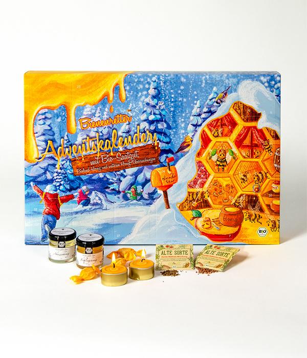 Saat & Gut BIO Saatgut & Honig Adventskalender - Bienenretter