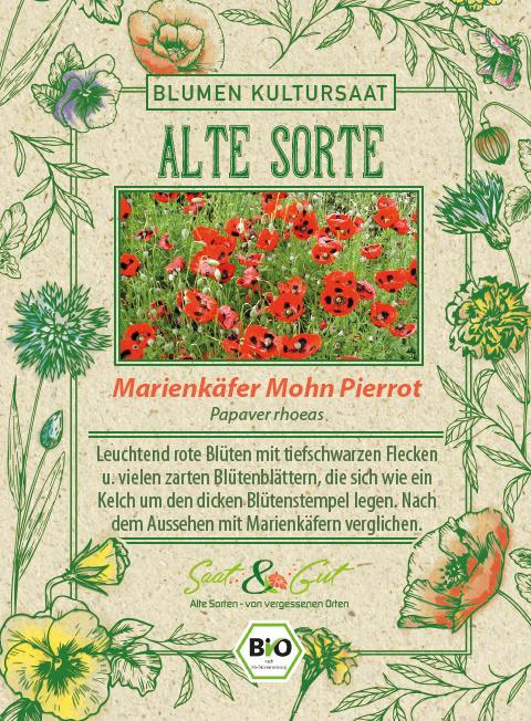Saat & Gut BIO-Marienkäfer Mohn Pierrot
