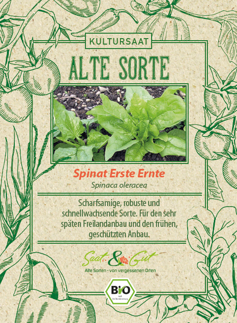 Saat & Gut BIO-Spinat Erste Ernte