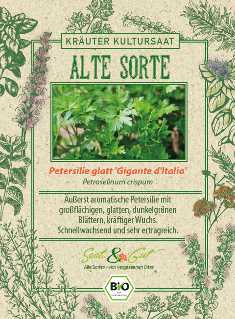 Saat & Gut BIO-Petersilie glatt 'Gigante d'Italia'
