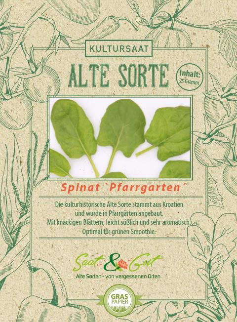 Saat & Gut BIO-Spinat 'Pfarrgarten'