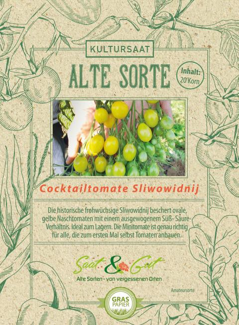 Saat & Gut BIO-Cocktailtomate Slivowidnij