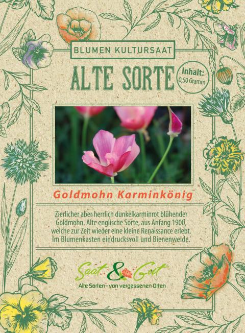 Saat & Gut BIO-Goldmohn 'Karminkönig'