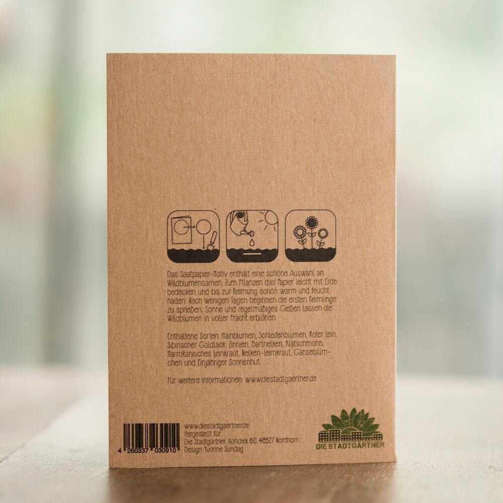 Stadtgärtner Saat-Grußkarte Gute Besserung