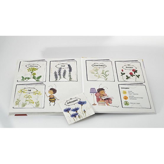 Emi Brillenbiene - Kinderbuch mit Bienen-Saatgut