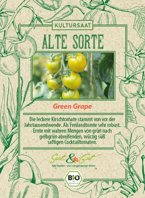 Saat & Gut BIO-Tomate Green Grape