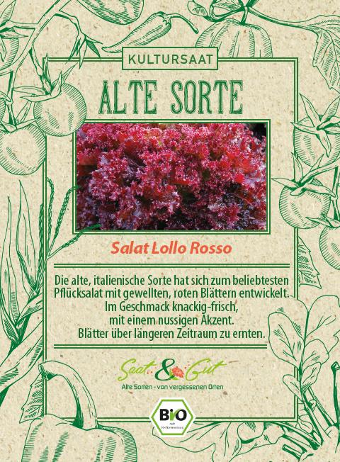 Saat & Gut BIO-Pflücksalat Lollo Rossa