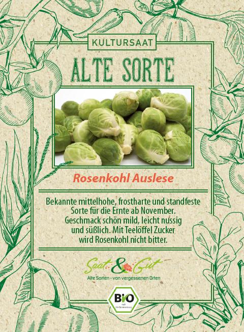 Saat & Gut BIO-Rosenkohl Auslese