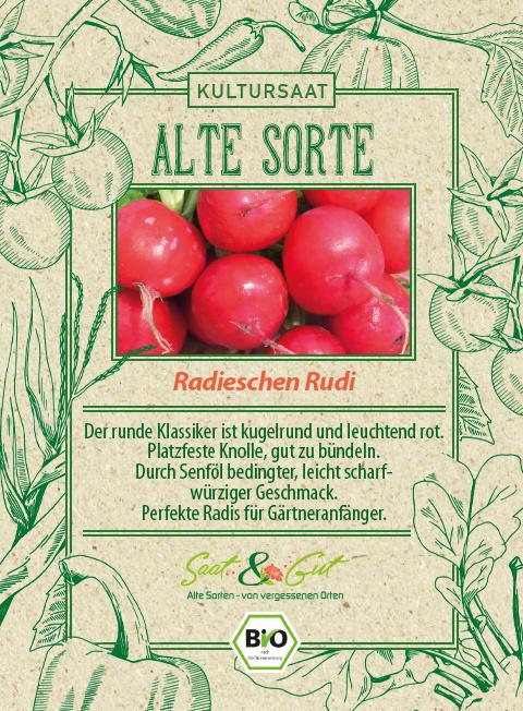Saat & Gut BIO-Radieschen Rudi