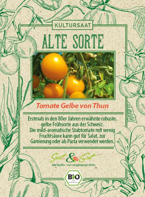 Saat & Gut BIO-Tomate Gelbe von Thun