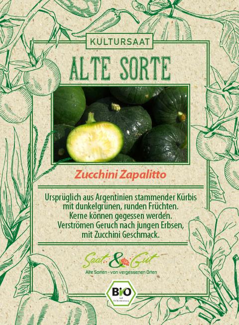 Saat & Gut BIO-Zucchini Zapalitto