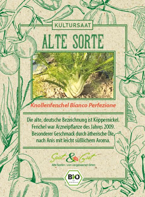Saat & Gut BIO-Knollenfenchel Bianco Perfezione