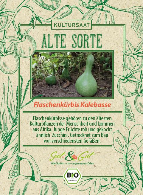 Saat & Gut BIO-Flaschenkürbis Kalebasse