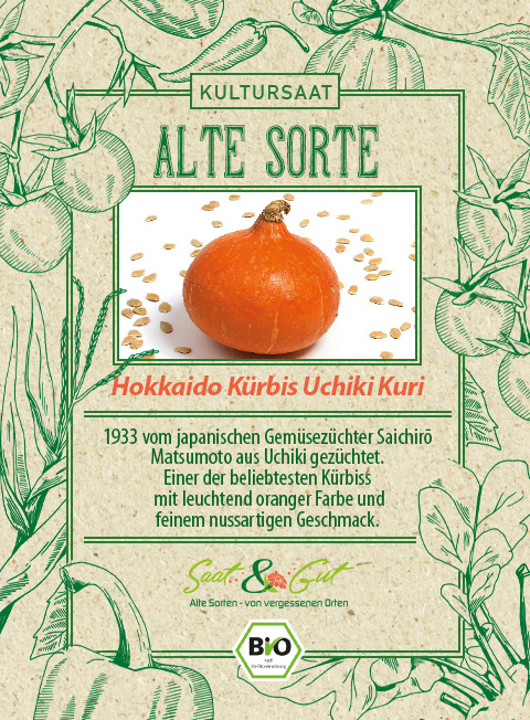 Saat & Gut BIO-Hokkaido Kürbis Uchiki Kuri