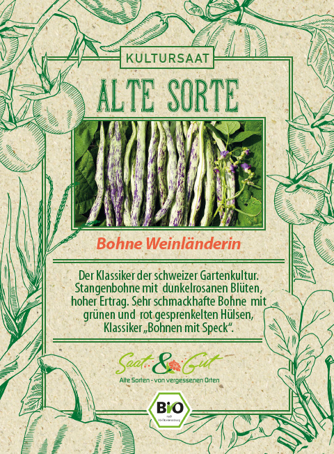 Saat & Gut BIO-Bohne Weinländerin