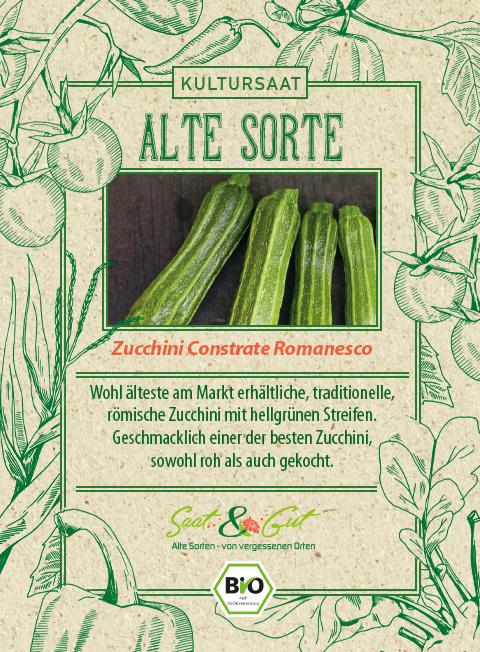 Saat & Gut BIO-Zucchini Costates Romanesco