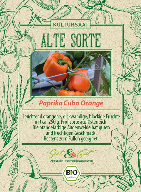 Saat & Gut BIO-Paprika Cubo Orange